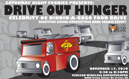 Saturday Night Foodies Presents Drive Out Hunger