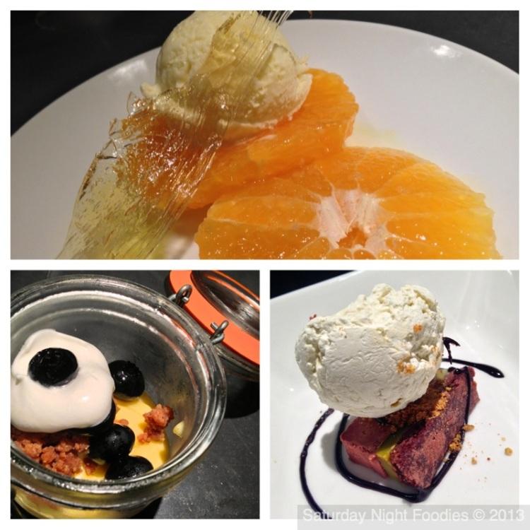 Sumo Oranges with House Made Basil Ice Cream, An Amazing Lemon Curd & Chocolate Pistachio Terrine