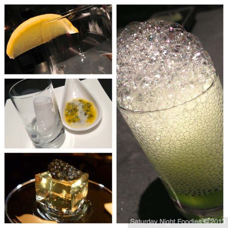 """Water with """"Lemon"""", Passion Fruit Welcome, Champagne & Caviar & Cucumber Lime Blast"""