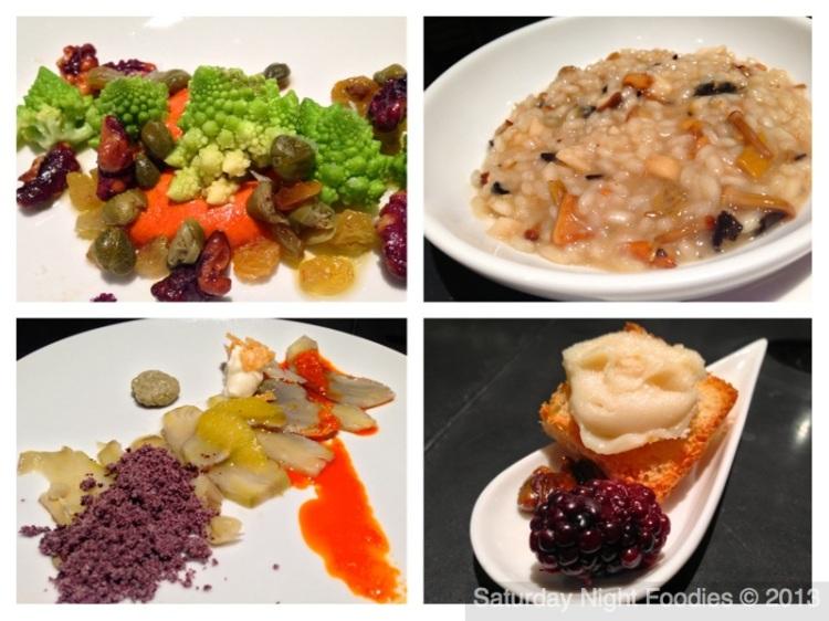 Romanesco Romesco Salad, Mushroom Risotto, Frost Kissed Artichoke Carpaccio & Finca Pascualete