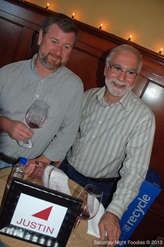 Winemaker Scott Shirley & Jim Gerakaris, Winery Sommelier & Wine Educator from Justin Vineyards & Winery