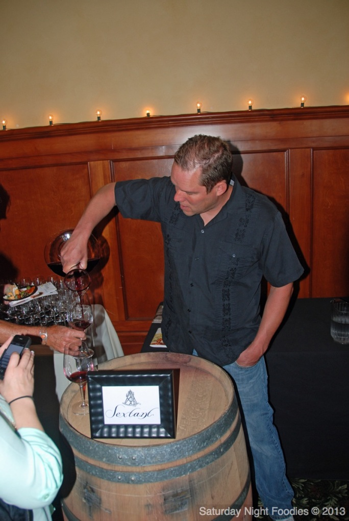 Winemaker Steve Martell from Sextant Wines Pouring a 2012 Estate (RBZ) Cabernet Sauvignon