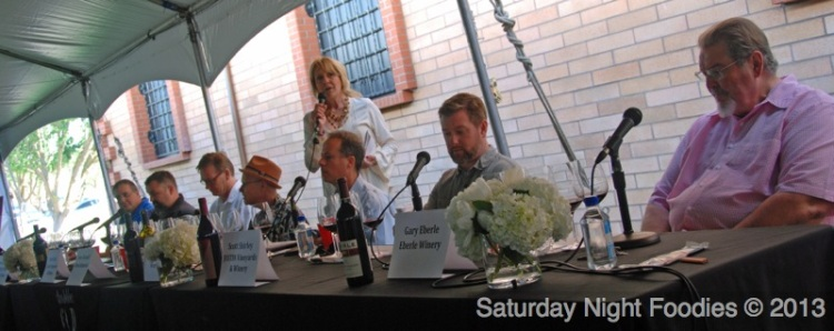 L2R: Daniel Daou, David Galzignatoi, Steve Peck, Steve Heimoff, Linda Parker Sanpei - (founder of Parker Sanpei & Associates), Kevin Willenborg, Scott Shirley & Gary Eberle