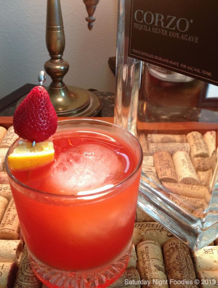 #050513  Cinco de Mayo Strawberry Meyer Lemon Tequila Cocktail