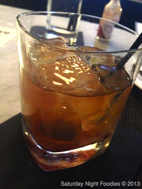 James Pepper: House Infused Bakers Bourbon with Orange peel & Vanilla Mixed with Lemon, Sugar cube & House Orange Bitters