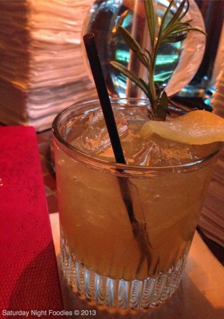 Kentucky Ginger - Marker's Mark, Ginger Liqueur, Agave, Lemon and Rosemay