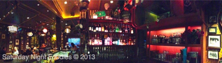 One side of the bar