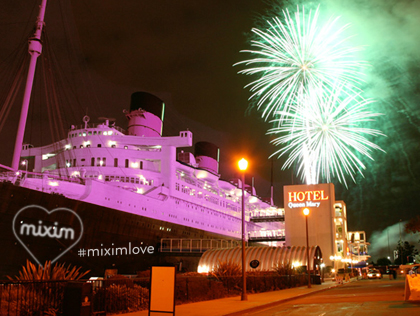 MIXIM Yogurt Turns Queen Mary into Pink Love Boat for V-Day Launch Party